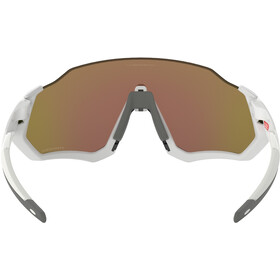Oakley Flight Jacket Sunglasses polished white/prizm sapphire